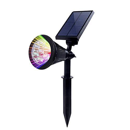 Chao Zan Lampe Solaire Extérieur, Solaire Projecteur avec 7 couleurs changeantes, Extérieur sans Fil Etanche IP55 Lampe Jardin avec 180° Réglable Spot Solaire pour Jardin, Cour, Chemin, Allé.