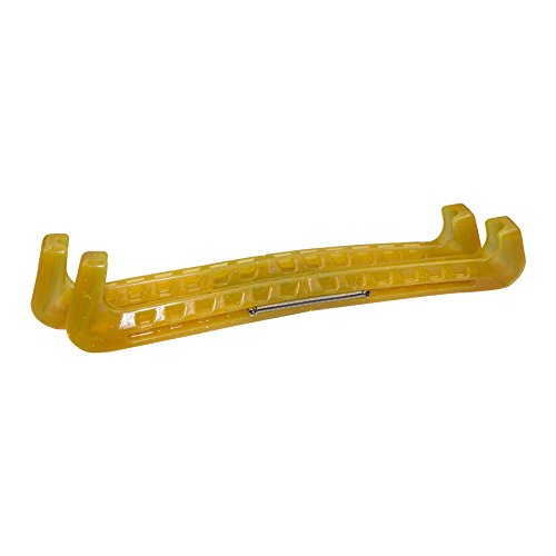 PARADICE Kufenschoner aus Kunststoff mit Federn für Schlittschuhe, gelb, Standard
