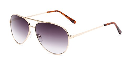 Readers.com Reading Sunglasses: The Conrad Reading Sunglasses Metal Aviator Style for Men and Women - Gold with Smoke, 1.25