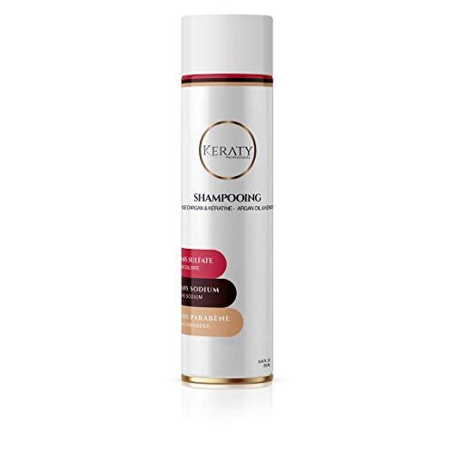 Shampoing prolongateur du lissage Brésilien à la Kératine et Argan - KERATY PROFESSIONAL - Sans sulfate - Sans Sodium - Sans Parabène - 250 ml