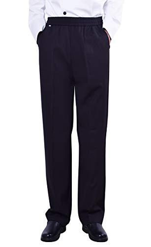 Nanxson Herren Kochhose Arbeitshose Gummizug Bundhose schwarz Hose mit elastische Taille CFM2004