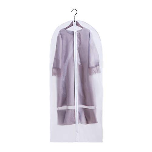 Suit Bag, Garment Bag Clear Moth Proof Garment Bags White ademend Volledige Zipper Dust Cover for Suit Dance kleding kast Pack van 10 (Size : 60 * 88cm)