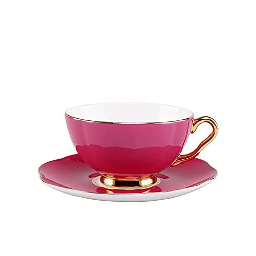 Juego De Tazas De Café De Porcelana China De Estilo Europeo Creativo Taza Y Platillo De Café Para El Hogar Taza De Té De La Tarde De Color SóLido Taza De Agua De CeráMica