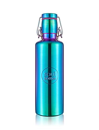 soulbottle steel light • Utopia • 0,75 l • einwandige Trinkflasche aus Edelstahl • plastikfrei, nachhaltig, auslaufsicher