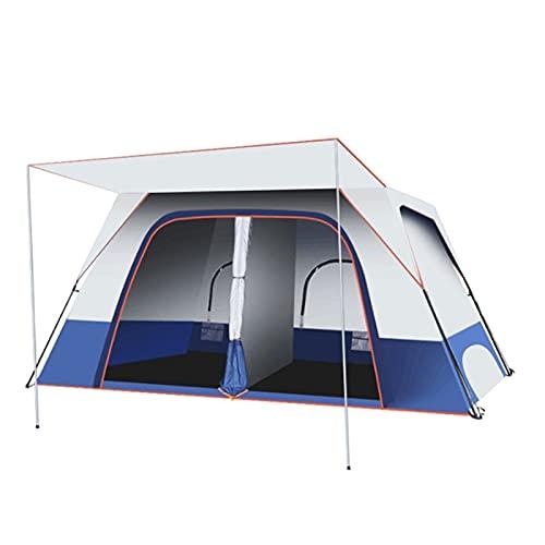 QIAOLI Zelt 4-8 Person Touristenzelte im Freien Camping Zwei Zimmern und EIN Wohnzimmer Doppelschicht Großes Camping-Familien-Partyzelt Kuppelzelte
