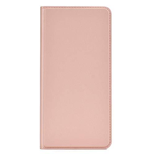 Schutzfilm Telefonkasten Für ultradünne Spannung Plain Magnetic Saugkarte Für Xiaomi Redmi Anmerkung 7 TPU + PU-Handy-Jacke mit Chuck und Halter. (Blau) (Color : Rose Gold)