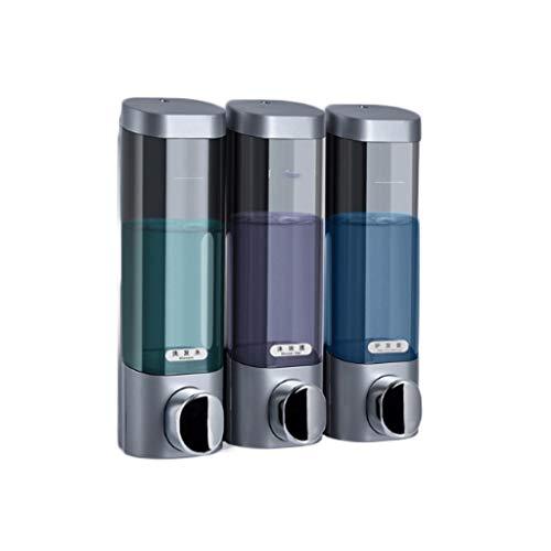 Aveo Schaumseifenspender Mehrzweck-Seifenspender zur Wandmontage, Hotel Family Bathroom Handseifen-Duschgel-Box 3-Kammer 900ML Duschlotionsspender (Color : Chrome)
