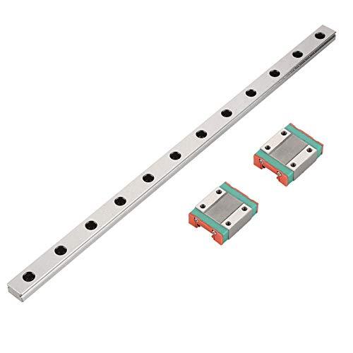 300mm MGN12 Miniature Linear Rail Guide Rail 12mm Width + 2pcs MGN12B Slide Blocks