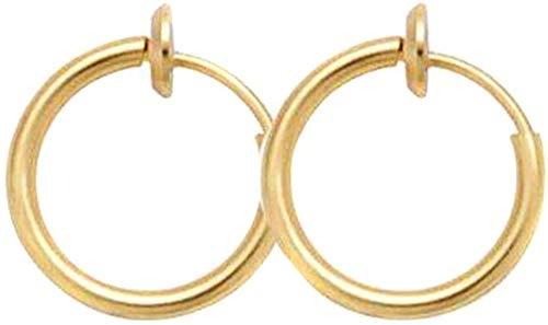 eamqrkt Retractable Earrings No Need Piercing Men Women Classic Hip-Hop Style Hoop Earrings