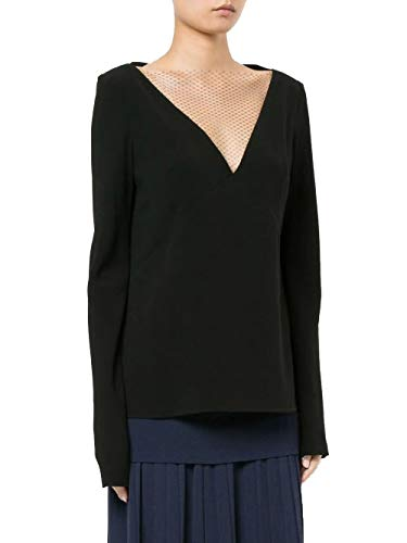 Dion Lee Lace Tile Long Sleeve Top - Black - Small