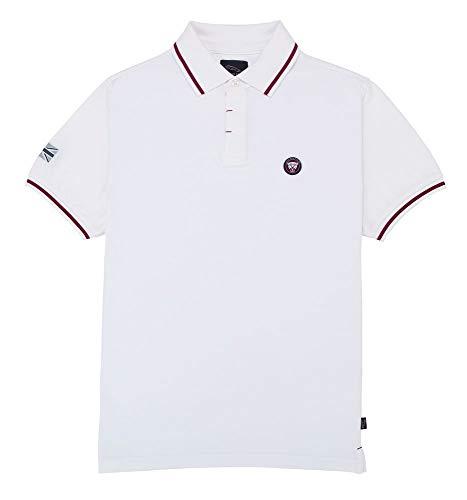 Jaguar Herren Growler Graphic Polo Shirt XS weiß