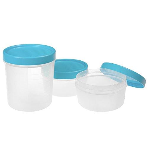 TATAY 1169400 Set de 3 contenedores de alimentos herméticos con cierre a...