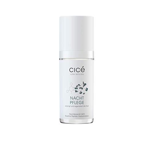 cicé Anti-Aging Nachtpflege - hochwirksame Nachtcreme gegen Falten, Rötungen und schlaffe Haut