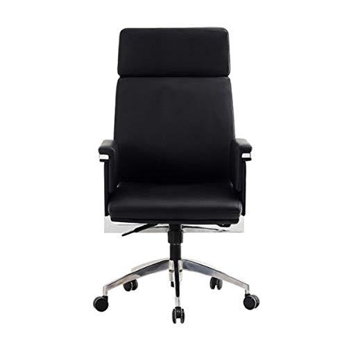 miaosss Bürostuhl Chefsessel Computerstuhl Sitzhöhenverstellung Office Stuhl Polsterung, Ffice Chair Ergonomic Swivel Chair with Folding Arms and Nylon Star Foot