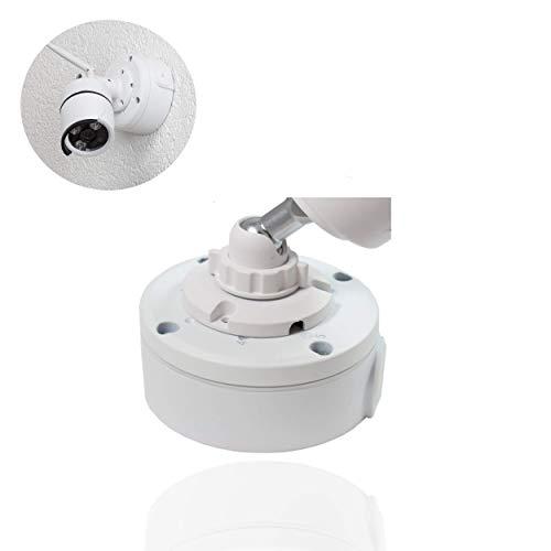 Safe2Home® Kamera Montagesockel Universal zum Verstauen Aller Kabel für Funk/POE Kameras - Videokamera/Überwachungskamera Montagebox Weiß