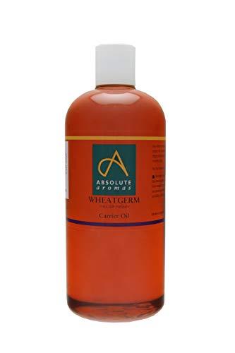 Absolute Aromas Aceite de Germen de Trigo 500ml - Puro, Natural, Prensado en Frío, Libre de Crueldad Animal y Vegano - Aceite Hidratante para Cabello, Cara y Masajes