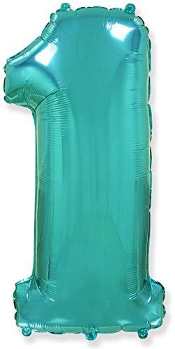 Número 1, Tiffany - Globo de Aluminio de 40