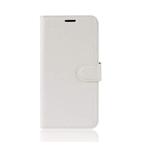 Tasche für Asus ZenFone 3 (5.2zoll) ZE520KL Hülle, Ycloud PU Ledertasche Flip Cover Wallet Hülle Handyhülle mit Stand Function Credit Card Slots Bookstyle Purse Design weiß