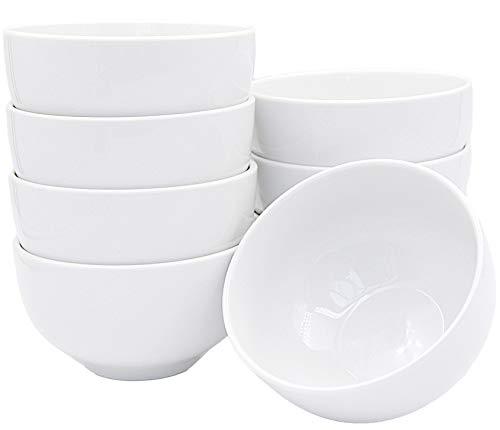 Set aus 8 Stück Dipschalen Dessertschalen 330 ml aus echtem Porzellan auch zum Bemalen bestens geeignet Müslischale Snackschale Suppenschüssel