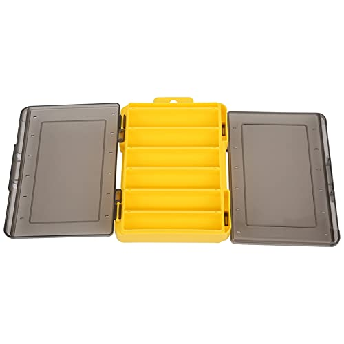 BOLORAMO Caja de Almacenamiento, Caja de Aparejos de Pesca Conveniente Duradera Mejor sensación de Uso para Pescar(Yellow)