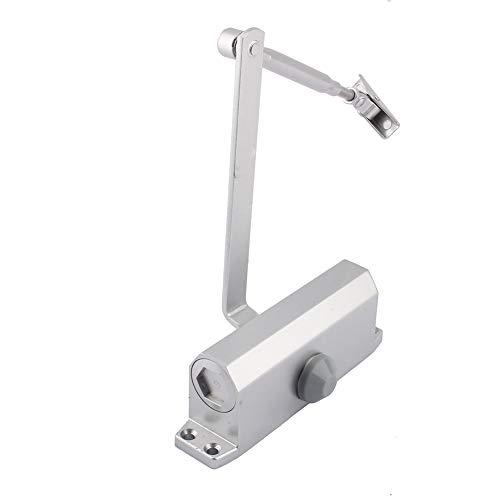 Cierrapuertas ajustable automático de metal para la parte superior de una puerta cortafuego, plateado, 25 – 45 kg/45 – 65 kg (45 – 65 kg)