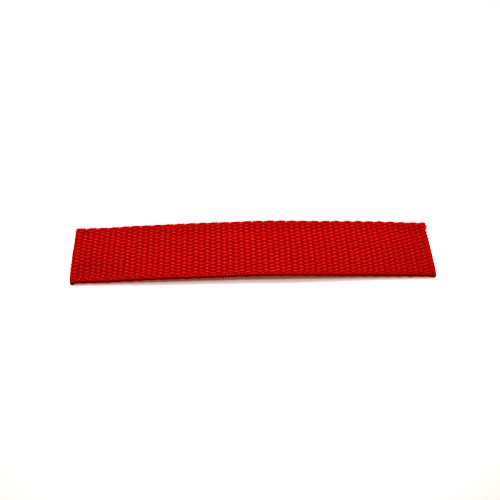 25mm 1 inch Polypropylene Webbing Strap Tape (5m) Red