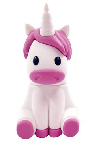 Unicornio Unicorn 32GB - Memoria Almacenamiento de Datos - USB Flash Pen Drive Memory Stick - Diseño único y Original - Blanco y Rosa