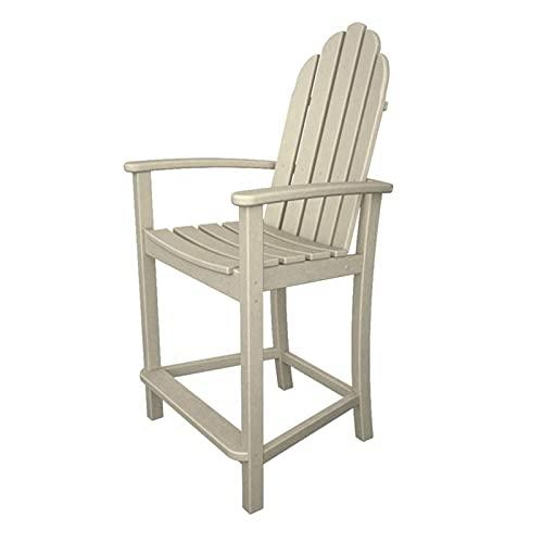 QILIYING Sgabelli da Bar sedie da Bar 2 PCS Plastic Wo-od Impermeabile Patio Set di mobili for Esterni Sgabello da Bar by (Color : Bianco, Size : 63x61x119cm)
