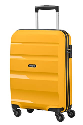 American Tourister Bon Air - Spinner Small Strict Hand Luggage, 55 cm, 31.5 liters, Yellow (Light Yellow)
