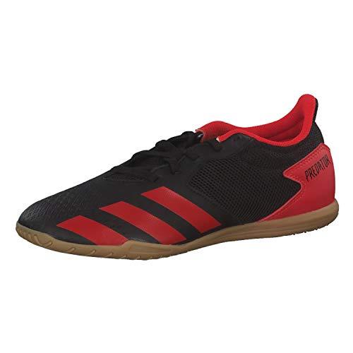 Adidas Predator 20.4 IN Sala, Zapatillas Deportivas Fútbol Hombre, Negro (Core Black/Active Red/Core Black)