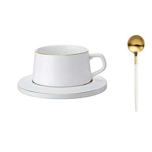 Taza De Café Taza De Cerámica con El Plato De La Cuchara Sencillo Retro del Hogar Té Negro Tarde Elegante 250 Ml