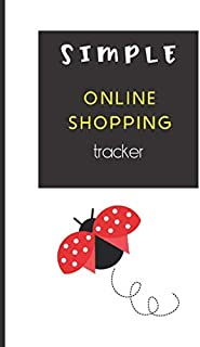Simple Online Shopping Tracker: Easily Organise Your Online Purchases Cute Ladybird (shopers gifts)