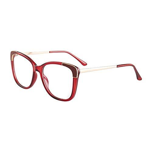 Qier Gafas Bloqueo Luz Azul,Gafas De Ordenador Anti Rayos Azules, Filtro De Lectura para Juegos, Gafas De Moda con Montura Ligera, Regalo para Mujer, Rojo