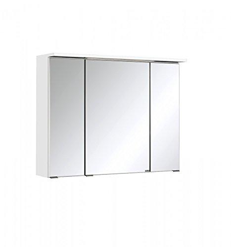 Held Möbel Bolgona Spiegelschrank, Holzwerkstoff, Weiß, 20 x 80 x 68 cm