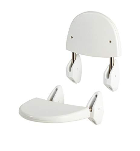 MSV Składane krzesło prysznicowe do zamocowania na ścianie Obciążenie: ok. 120 kg
