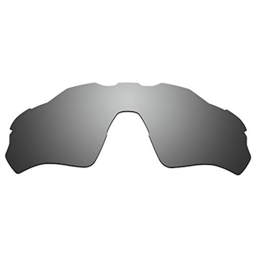 ACOMPATIBLE Replacement Vented Lenses for Oakley Radar EV XS Path (Youth Fit) Sunglasses OJ9001 (Titanium - Polarized)