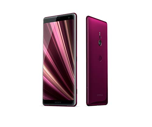 Sony Xperia XZ3 Smartphone (15,2 cm (6 Zoll) OLED Display, Dual-SIM, 64 GB interner Speicher und 4 GB RAM, BRAVIA TV Technologie, IP68, Android 9.0) Bordeaux Red - Deutsche Version