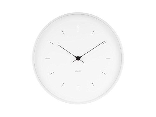 Topkey Horloge Murale Ronde silencieuse sans tic-tac 30 cm Vert Menthe
