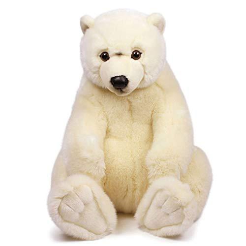WWF WWF16869 Plüsch Eisbär sitzend, realistisch gestaltetes Plüschtier, ca. 47 cm groß und wunderbar weich