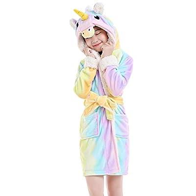 NEWCOSPLAY Kids Animal Pajamas hooded bathrobe