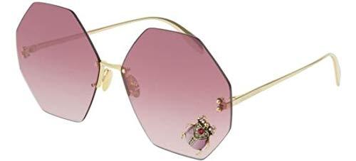 Occhiali da Sole Alexander McQueen AM0208S Gold/Red Shaded 67/15/145 donna