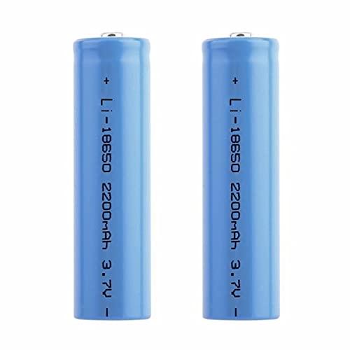 18650 Batteria 3.7v Ricaricabile Litio, 2200mAh Grande Capacità Batteria Ricaricabile 18650 Pile Ricaricabili per Torcia a LED, Illuminazione di Emergenza, Dispositivi Elettronici(2pcs)