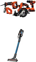 BLACK+DECKER 20V MAX Cordless Drill Combo Kit with POWERSERIES Extreme Cordless Stick Vacuum, Blue (BD4KITCDCRL & BSV2020G)