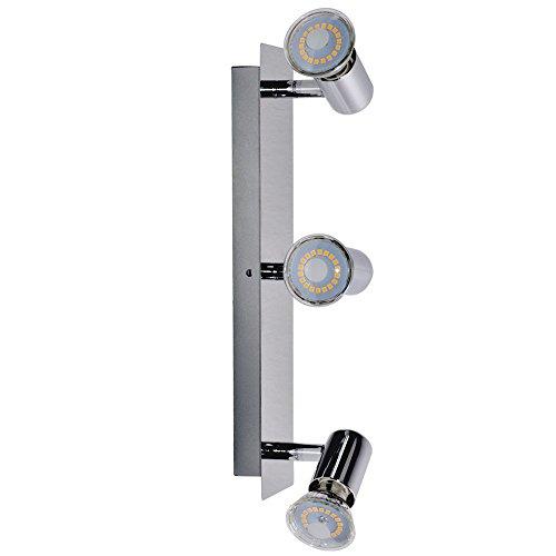 LED Wand Strahler chrom Lampe Bade Zimmer Beleuchtung Flur Leuchte Spots drehbar Briloner 2290-038