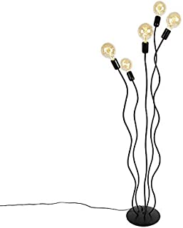 Qazqa Lampadaire | Lampe sur pied Design - Wimme Lampe Noir - E27 - Convient pour LED - 5 x 60 Watt