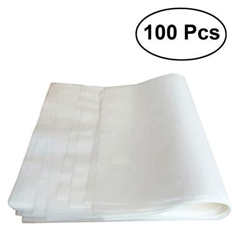 OUNONA 100 PCS Pergamentpapier Liner Antihaft Backblech Dampfer Papier Blatt 20 * 30CM