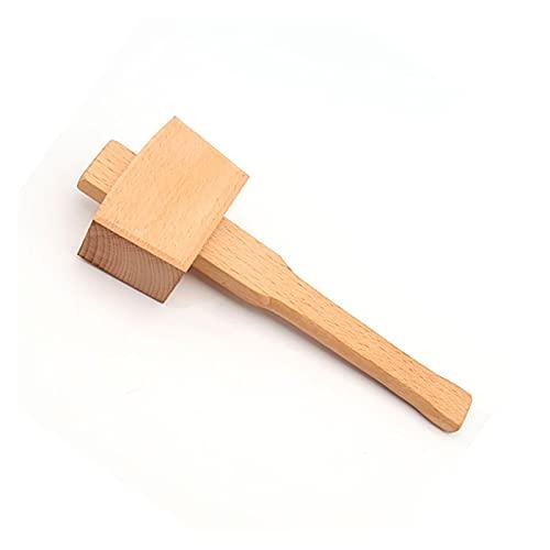 XILAIDENG Zzhua Martillo de Madera de Alta dureza Herramienta de la Mano de la Mano del Carpintero sólido del Carpintero Bricolaje Instalación de Martillo de Madera