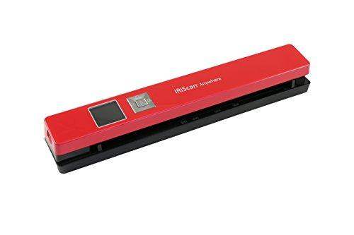 IRISCan Anywhere - Escáner de Color portátil con 5 imágenes de Documentos, Rojo