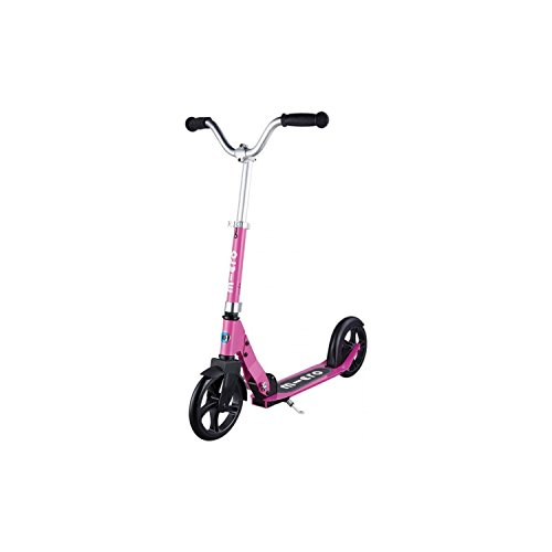 Micro Kickboard - Micro Cruiser - Two Wheeled, Fold-to-Carry Swiss-Designed Micro Scooter for Kids with Smooth Glide Large Wheels for Ages 8+ (Pink)