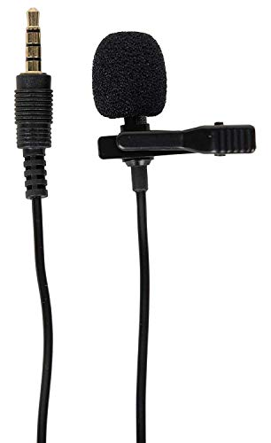 FreshDcart FDC89H Mobile Noise Cancellation Collar Mic Clip with Back Pouch Case for YouTube Voice/Video Recording | Interviews Reporting and Singing Microphone (Black)